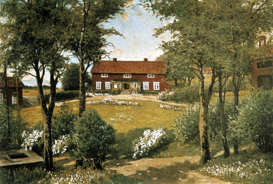 Målning av gamla Mårbacka